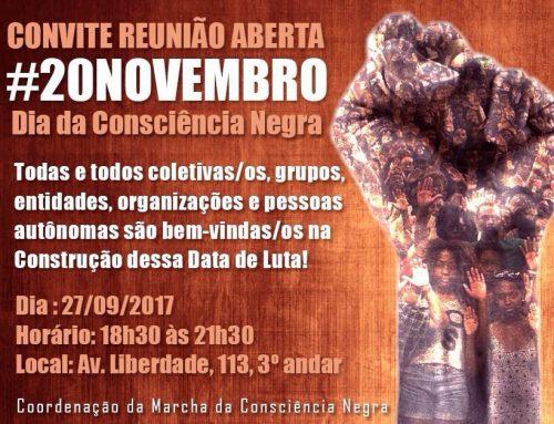 Convite – Reunião Aberta de Organização do Dia da Consciência Negra