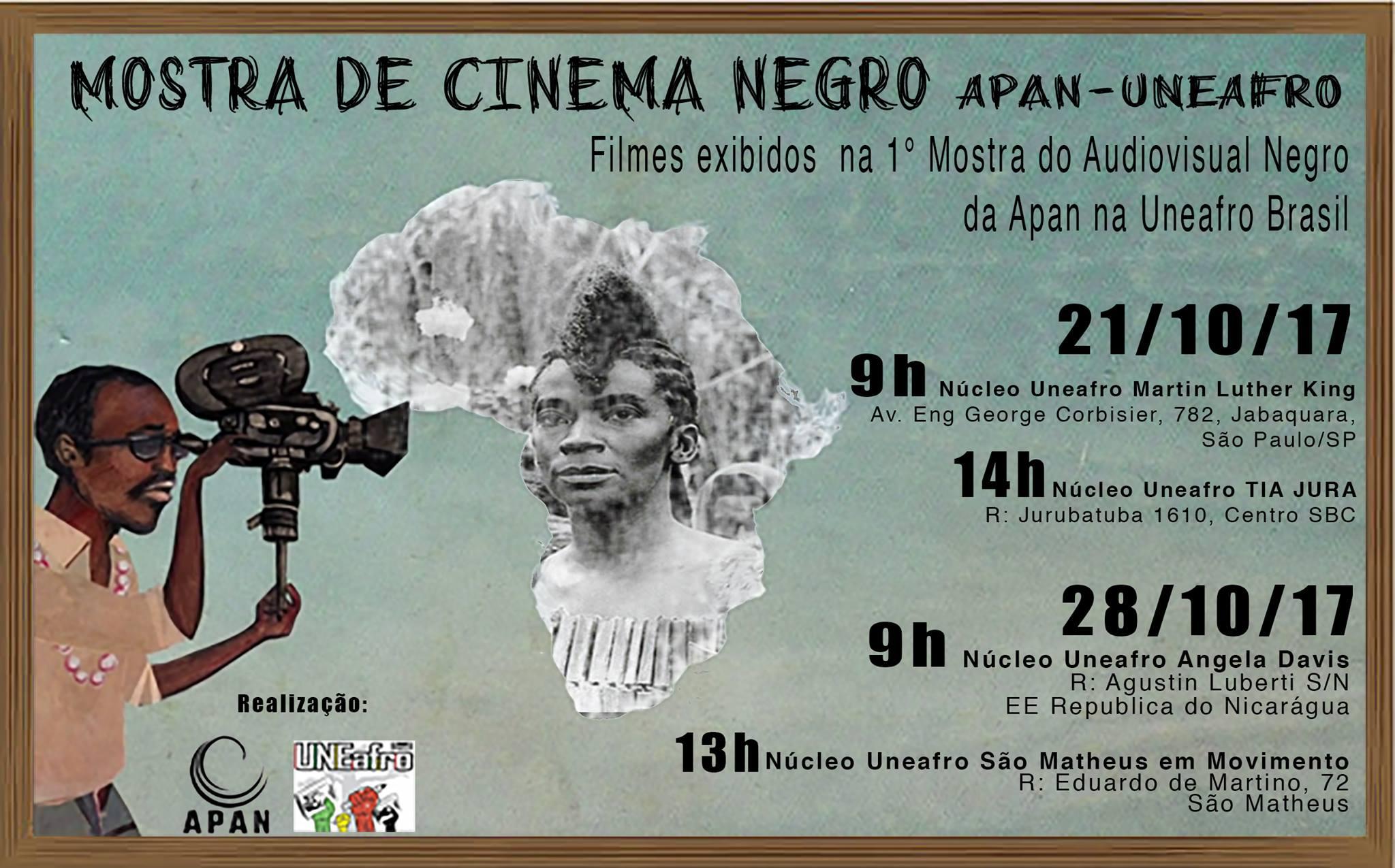 Mostra Cinema Negro acontece em 4 núcleos da Uneafro