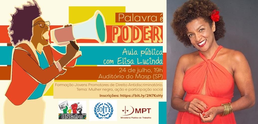 Aula pública: Mulher negra, ação e participação social – COM ELISA LUCINDA