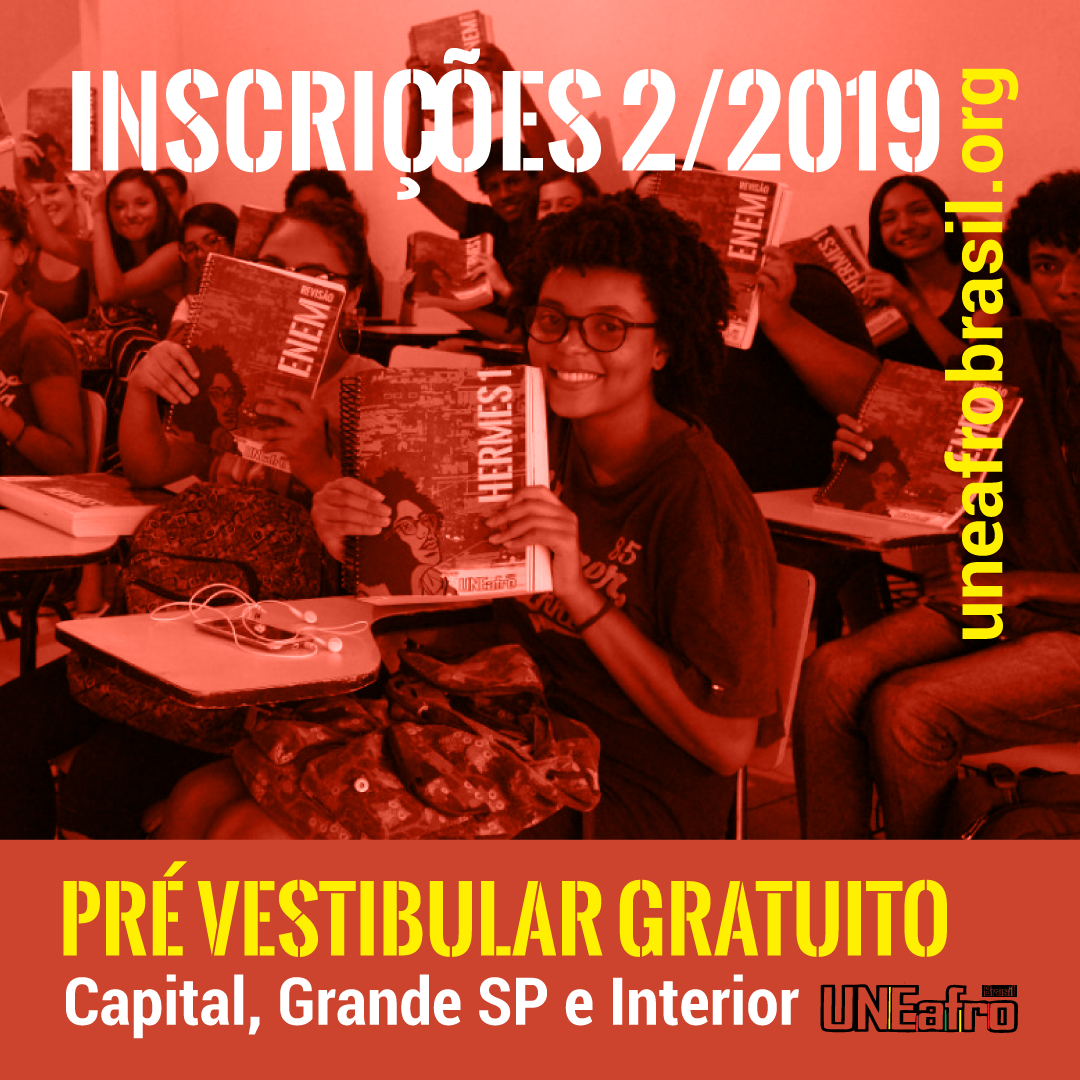 inscrições para as aulas do pre vestibular da uneafro brasil