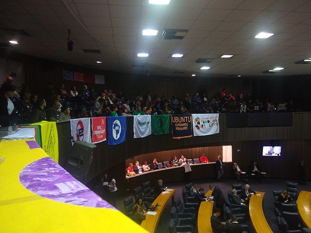 Estudantes de Cursinhos Populares em luta pelo Passe Livre