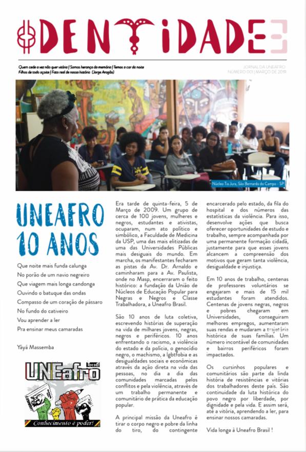 Capa - Jornal Identidade Edição Julho2019