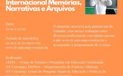Uneafro Brasil participa do V Simpósio Arquivos & Educação e do IV Seminário Internacional Memórias, Narrativas e Arquivos da Unicamp