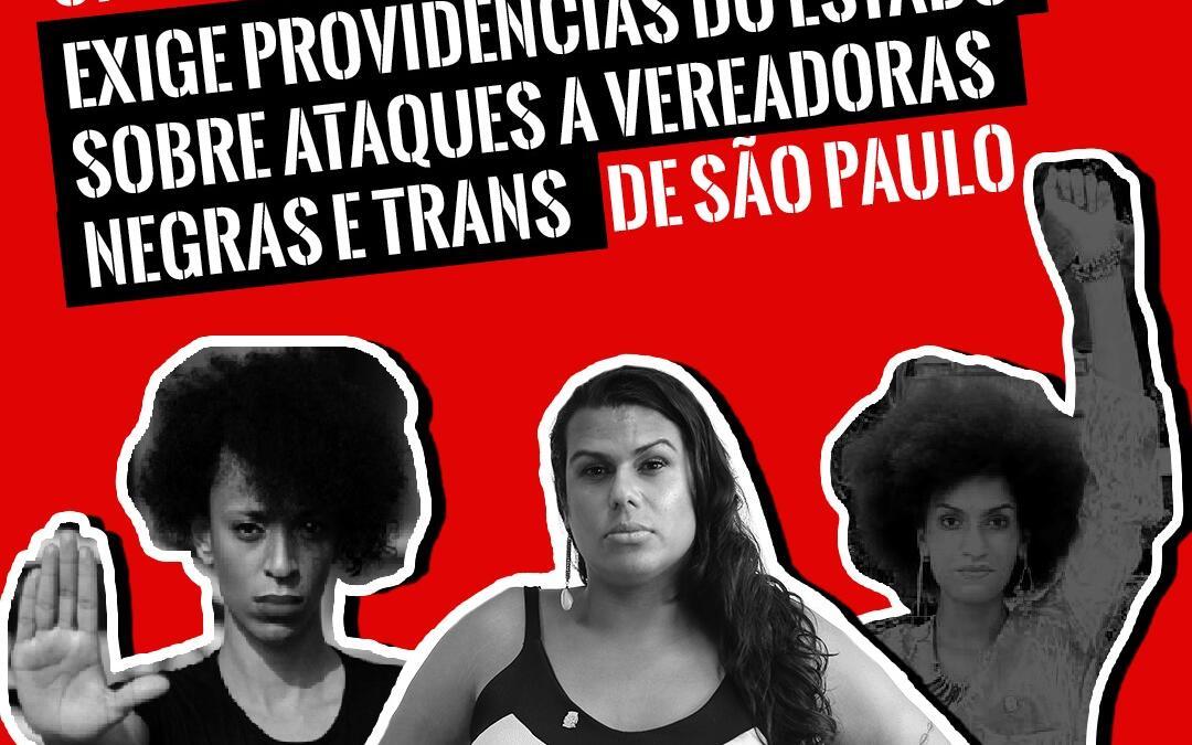 Uneafro Brasil exige providências do Estado sobre ataques a vereadoras negras e trans de São Paulo