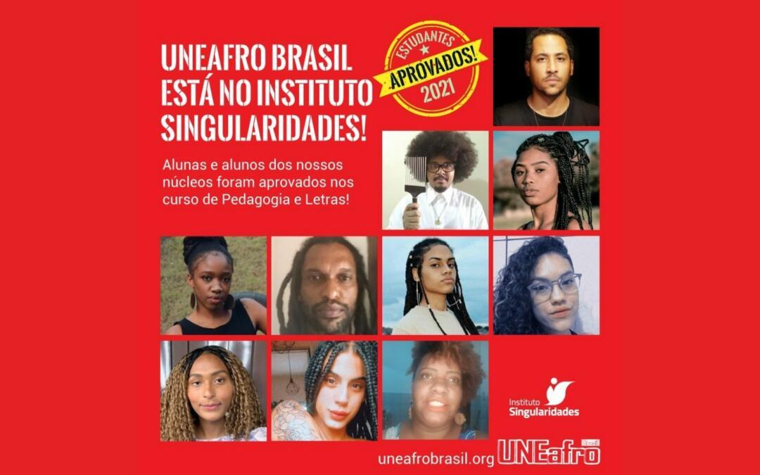 Parceria entre o Instituto Singularidades e a Uneafro Brasil entrega 10 bolsas de estudo para estudantes do cursinho