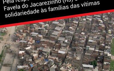 Pela responsabilização dos crimes na Favela do Jacarezinho (RJ) e em solidariedade às famílias das vítimas